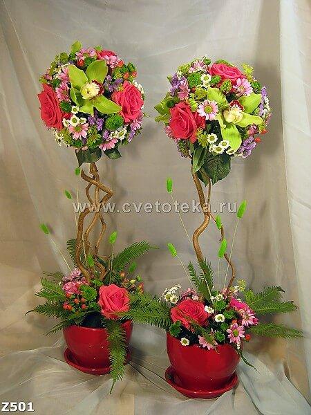 Сделать своими руками деревья из цветов