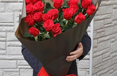 фото цветы букеты красные розы